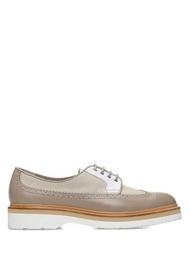 Santoni %100 Deri Loafer Ayakkabı Vizon
